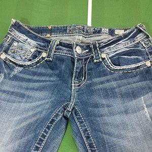 Miss Me Distressed Bootcut  Denim Jeans 26x33